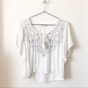 Abercrombie & Fitch peasant embroidered flowy top
